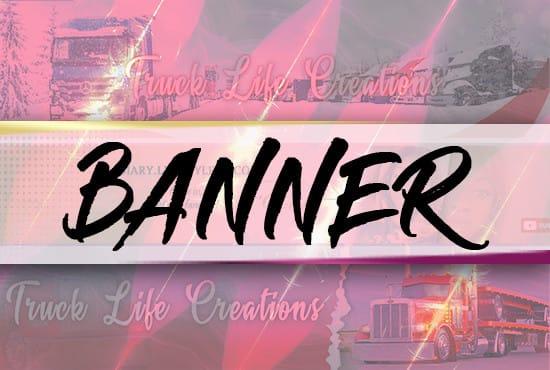 design very attractive YouTube banner