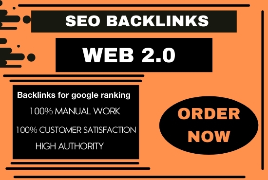 I will build 50 super authority web 2.0 permanent backlinks