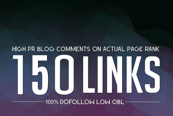 Create 150 high quality blog comment backlinks