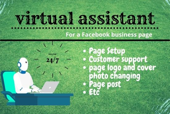 Virtual assistant for a Facebook business page