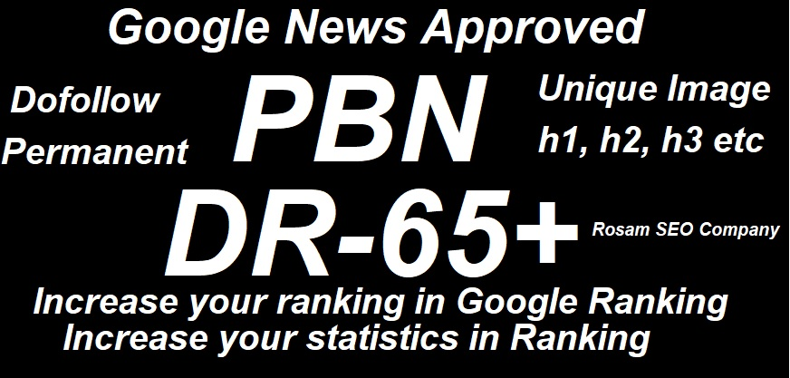 Build One Google News Approved PBN Dofollow Permanent Homepage PBN Backlink