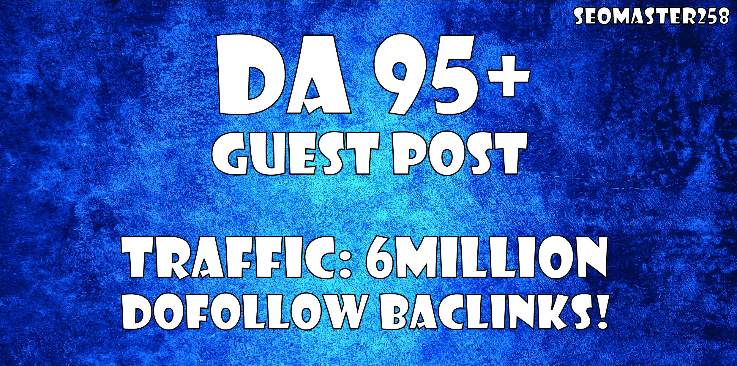 Build SEO Backlinks through High Da 90+ Guest Posts High Authority