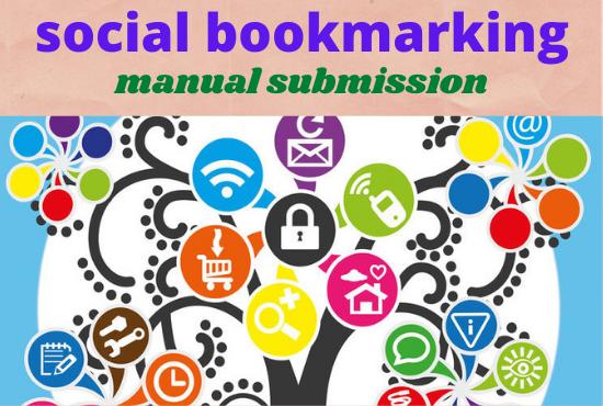I will create 150 best dofollow social bookmarking backlinks manually