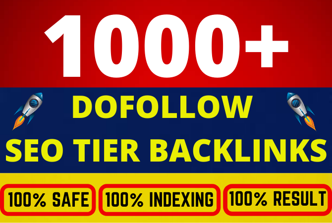 Build 1000 plus ultra SEO Dofollow tier backlinks