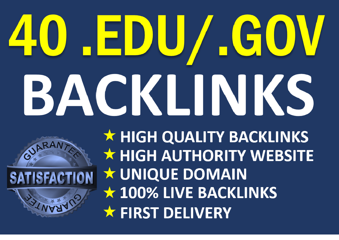I will manually do 40. EDU/. GOV Profile Backlinks 2021