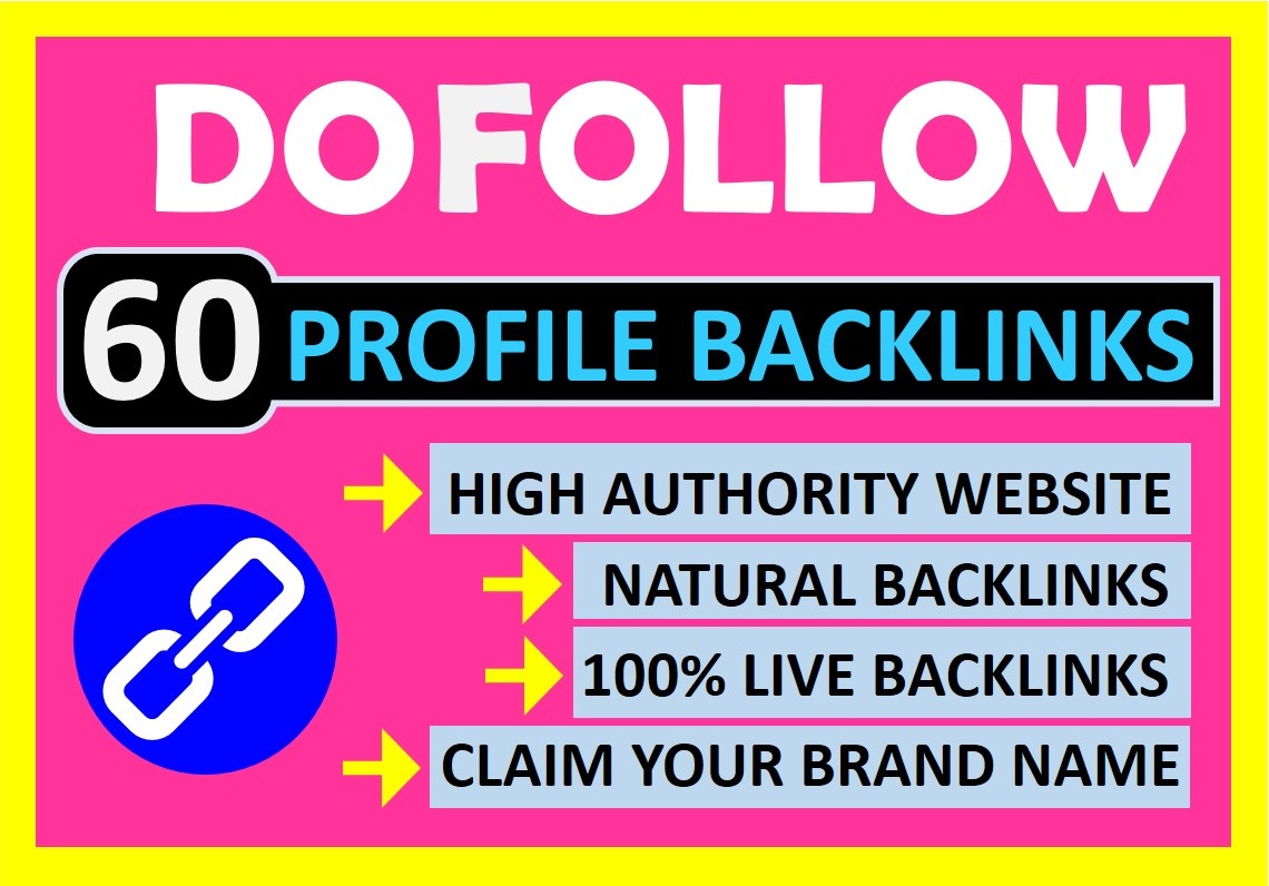 Manually Create 60 High Authority Profile Backlinks for Google Ranking