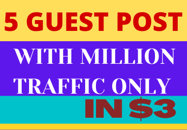 I will write and publish high quality backlinks with 5 guest post