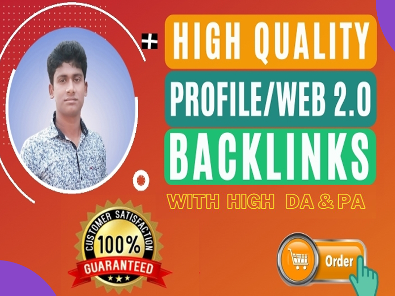 I will manually create 100 web 2.0,  profile backlinks with high da pa