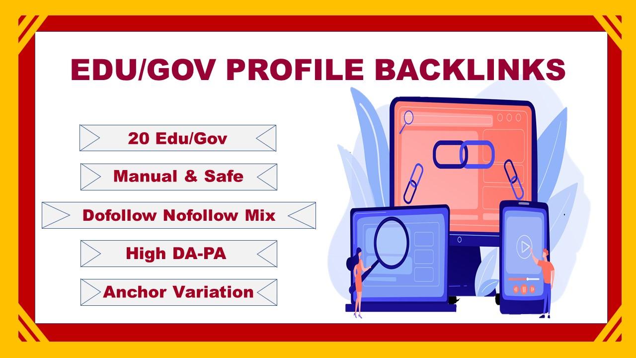 15. EDU/. GOV Manual Profile Backlinks