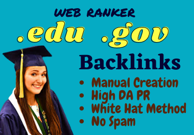 High Quality 50 Edu and Gov SEO Backlinks Service 2021