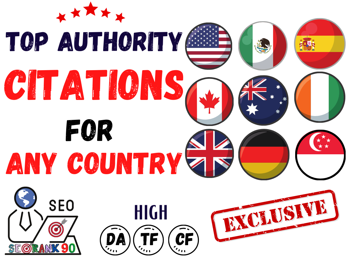 100 High Authority Citations for any country