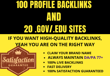 100+20 HIGH QUALITY BACKLINKS WITH BEST PRICE