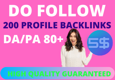200 SOCIAL PROFILE BACKLINKS MANULLAY CREATE