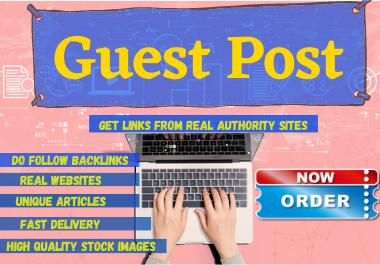 Write and Publish 10 Guest Post high authority website unique content