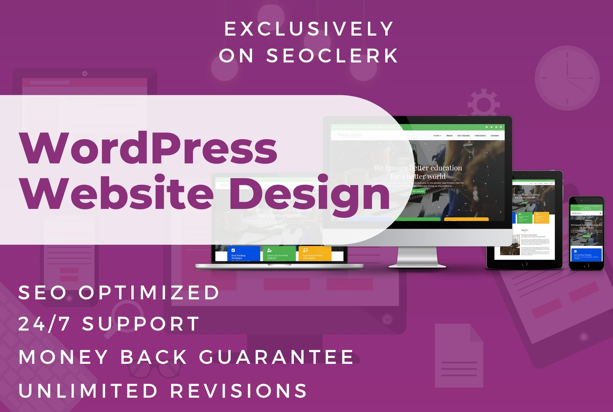 I will design professional WordPress website