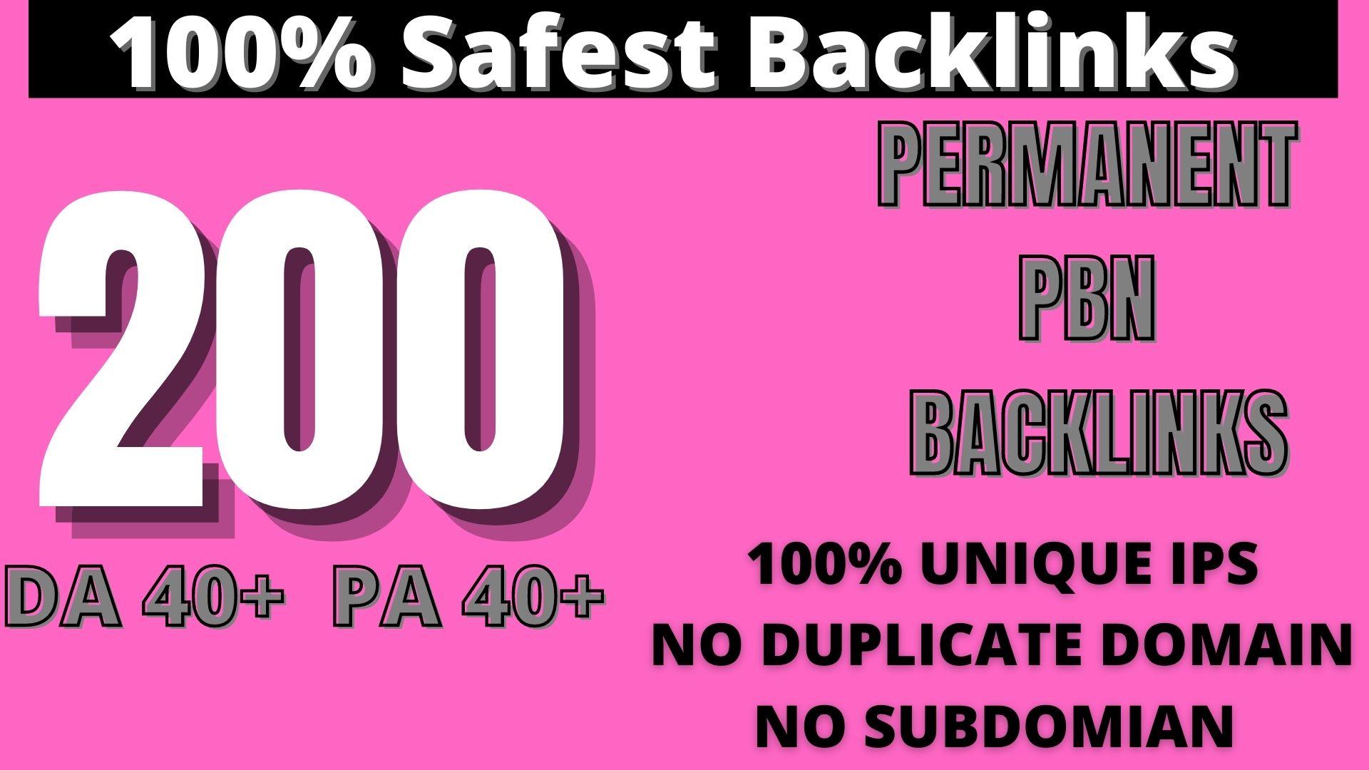 Create 200 HOMEPAGE PBN Backlinks 200 Dofollow & Permanent Links With High DA/PA/CF/TF web2.0
