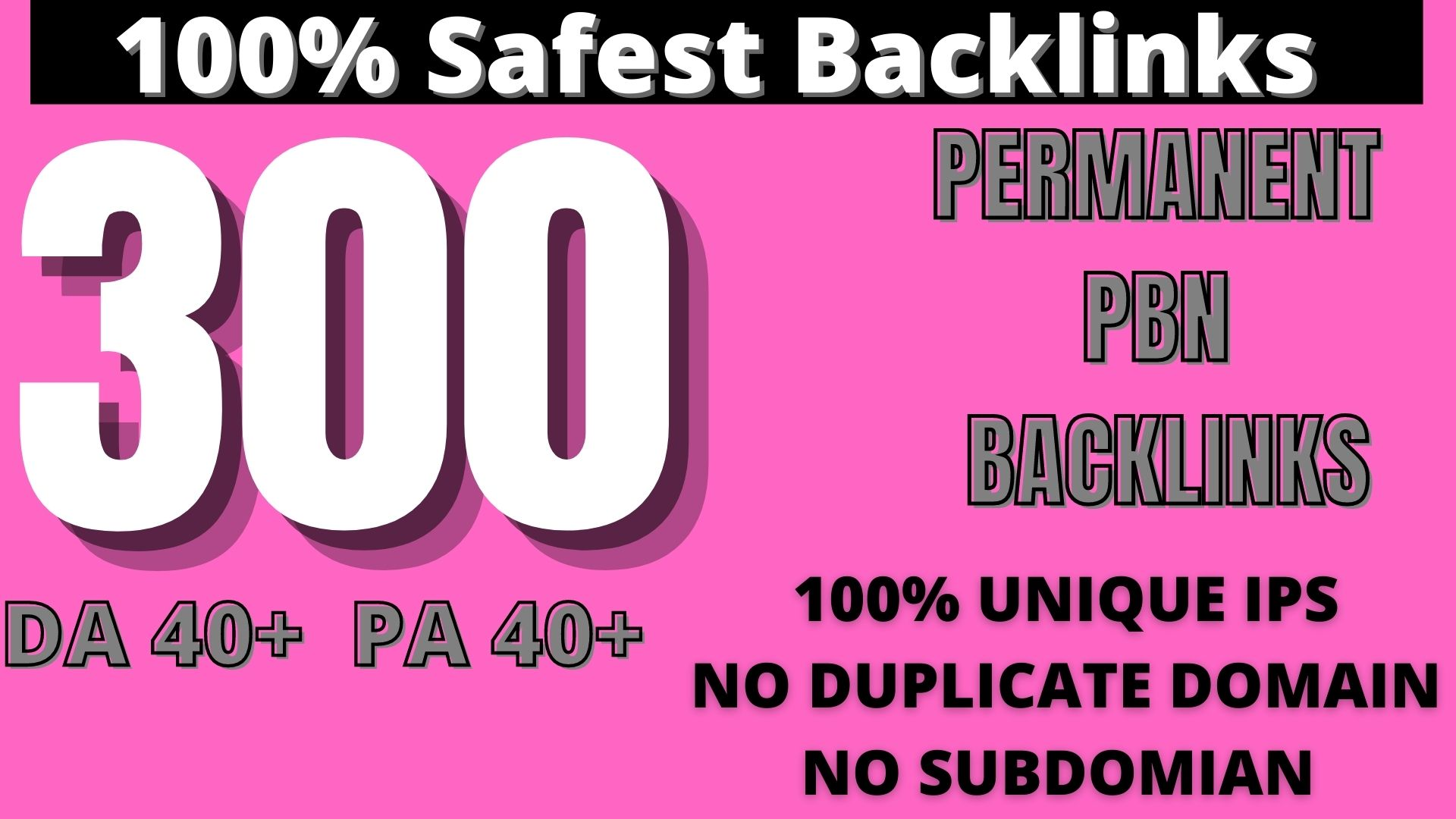 Create 300 HOMEPAGE PBN Backlinks 300 Dofollow & Permanent Links With High DA/PA/CF/TF web2.0