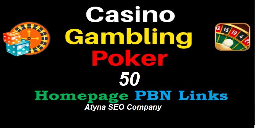50 Unique DA 40 to 25+ PBN Backlinks on Casino/ Gambling/ Poker Niche