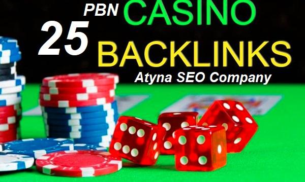 25 HQ,  DA 40 to 25+ Homepage PBN Backlinks on Casino Poker Niche