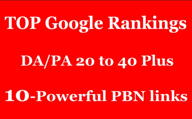 Create 10 High DA 25 to 40+ Homepage PBN Backlinks To Skyrocket you SERP Improve Your Google Ranking