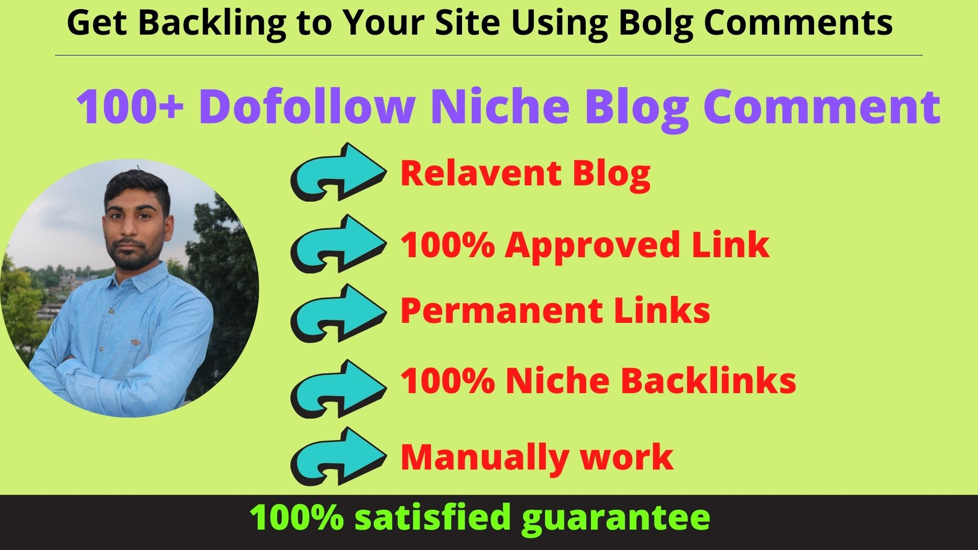 I Will provide 100+ Dofollow Niche Related Blog Comment Backlinks