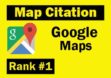 Manual 150 Google Maps Citation unique must rank your website and bring more traffics