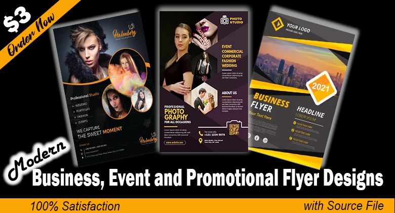 I will design modern and creative flyer professionally.