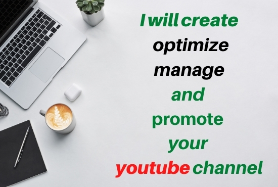 I will create,  optimize,  manage,  and promote your youtube chanel
