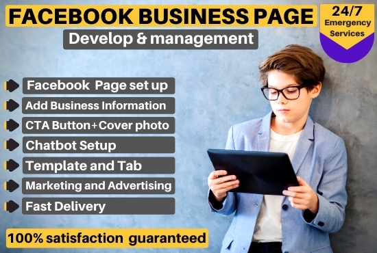 I Will Create,  optimize and design a Facebook business page