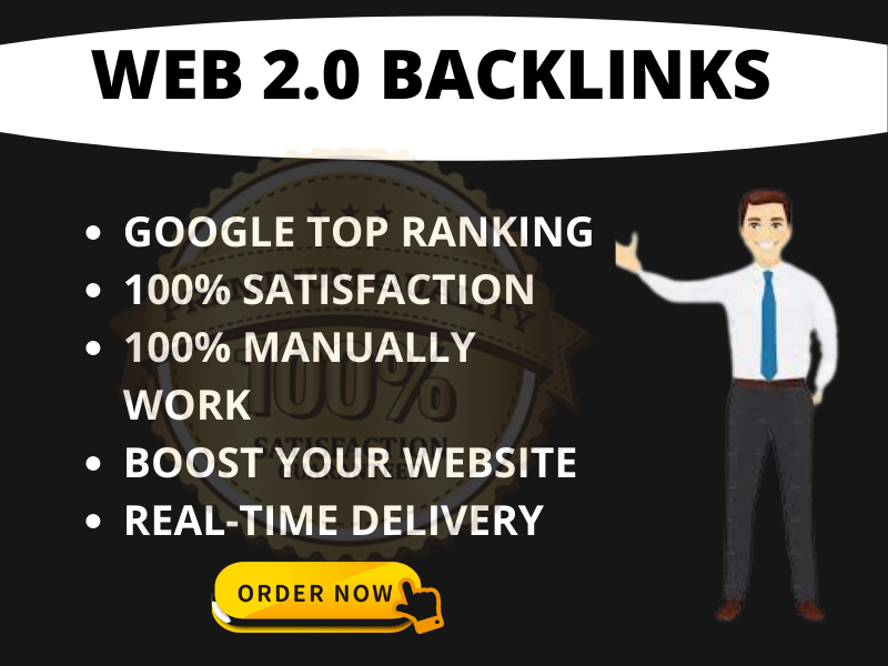 I will create Best Web 2.0 permanent backlinks manually to rank in google