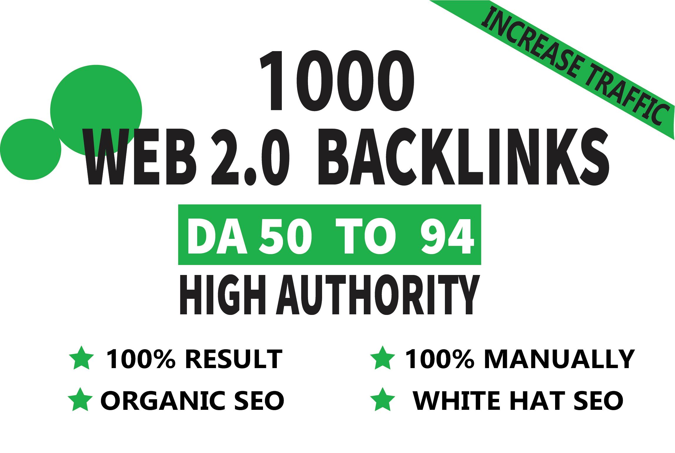 I will make 15 web 2.0 high quality manually Seo do follow backlinks
