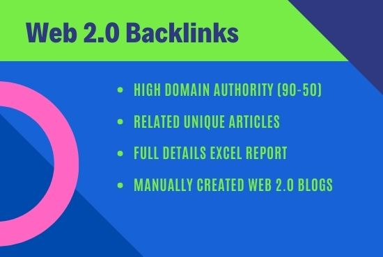 I will provide high quality Manually Web2.0 Blog post backlinks