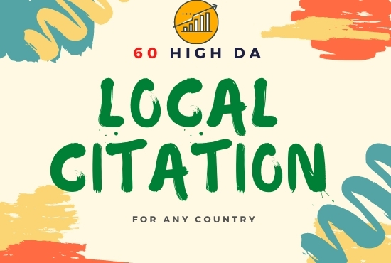 I will do Manually 60 live Business Citation for local Businesses