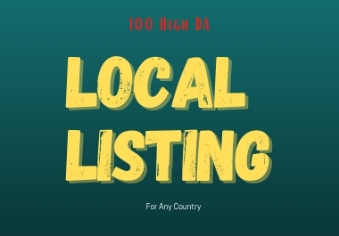 I will manually create 100 DA Local Listing