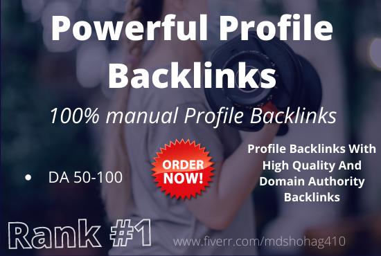 I will do 200+ high authority domain SEO profile backlinks