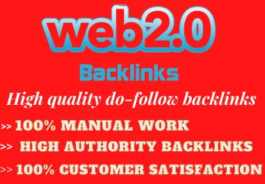 I will create 30+ High authority web 2.0 Backlinks