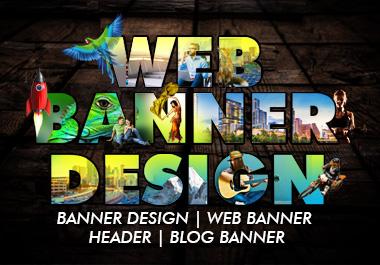 web banner,  header,  slider or fb cover