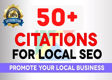 I will do 50+ live local SEO citations for local businesses