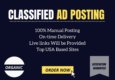 I will post your ads on 50+ top classified ad posting site