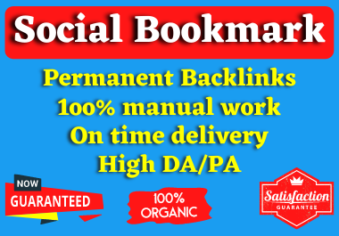 I will create 50 high authority Social Bookmarking Backlinks manually