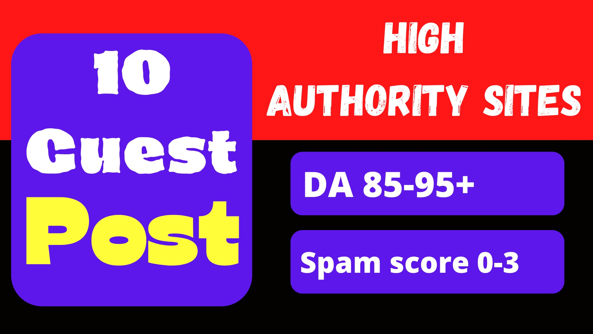 Write & Publish 10 Dofollow Guest Post On High DA 85+ Sites with permanent strong backlink
