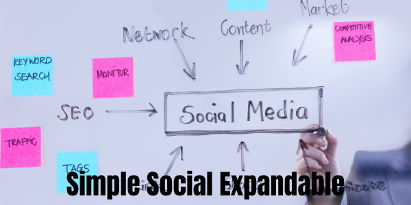 Simple Social Expandable WordPress Plugin Adds Social Network Buttons