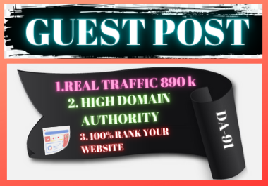 Write and Publish 5 Guest Posts on High Authority Website unique article backlink