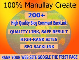 i will do 200+ blog comments backlinks manualy work