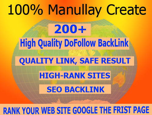I will create 200+ Dofollow high quality backlinks manually work