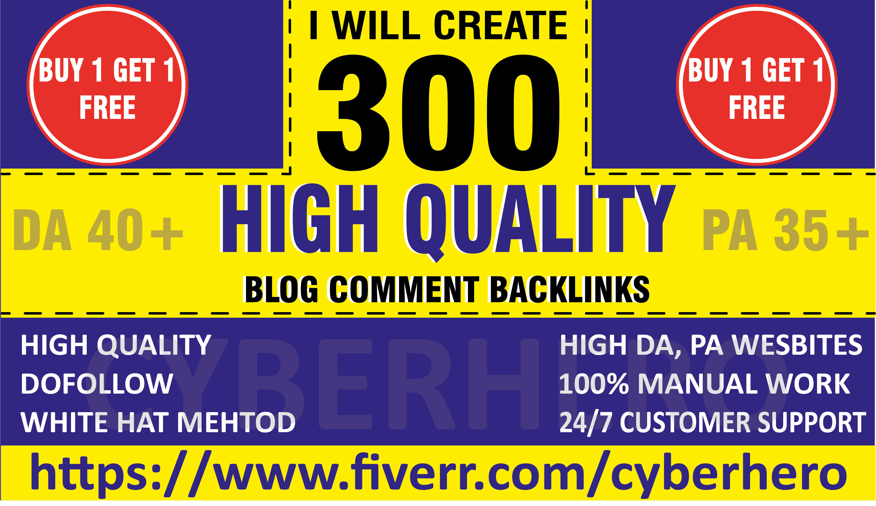 I will create 300 dofollow blog comment quality backlinks