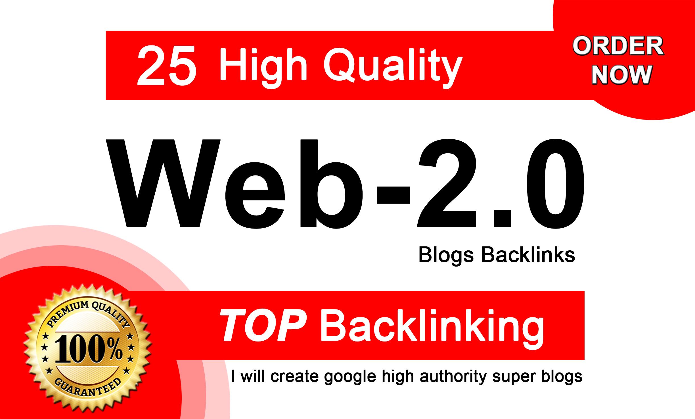 Manually create google high authority super DA Web2.0 Backlinks