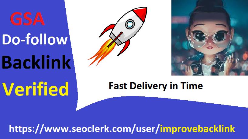 Powerful 200,000 GSA verified SEO Ser backlink High Authority Do-follow Google Top Rank