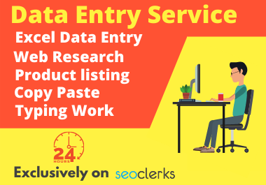 I will do excel data entry,  copy paste,  web scraping and typing