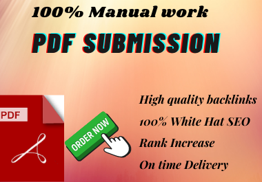 Manual 20 High Quality PDF Submission permanent backlink to rank in Google by quality link.